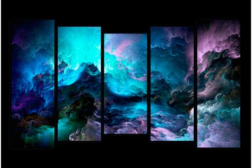 Модульная картина Темная Абстракция